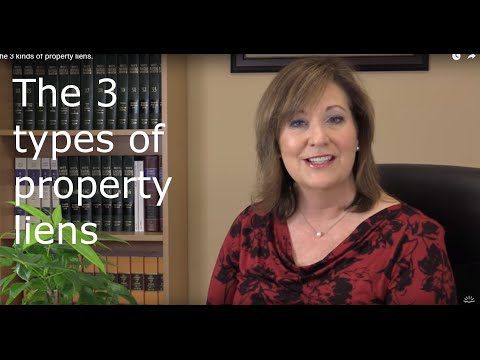 The 3 kinds of property liens.